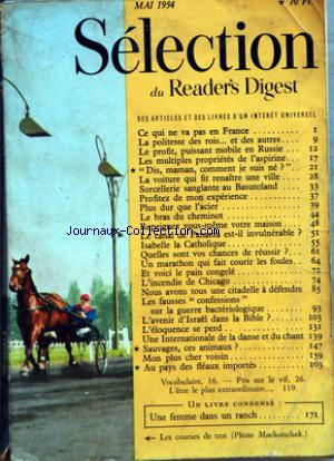 READER'S DIGEST SELECTION no: 01/05/1954
