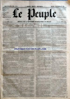 PEUPLE (LE) no:6 23/11/1848