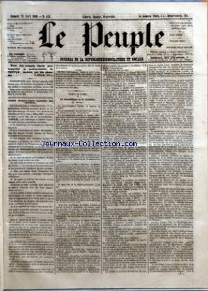 PEUPLE (LE) no:153 21/04/1849
