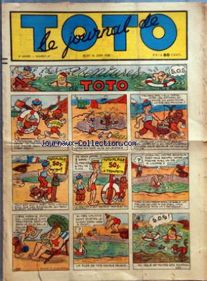 JOURNAL DE TOTO (LE) no:67 16/06/1938