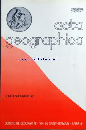 ACTA GEOGRAPHICA no:7 01/07/1971