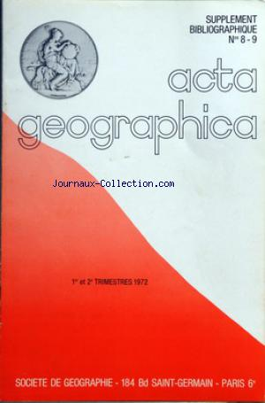 ACTA GEOGRAPHICA no:08-sept 01/01/1972