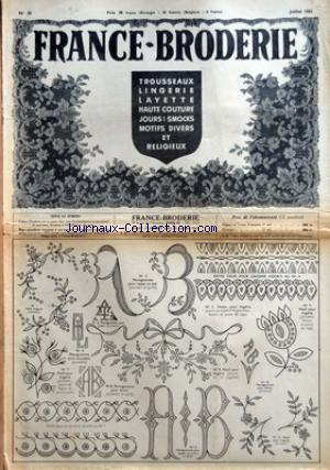 FRANCE-BRODERIE no:35 01/07/1952