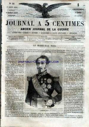JOURNAL A 5 CENTIMES no:24 17/08/1859