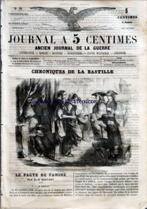 JOURNAL A 5 CENTIMES no:30 07/09/1859