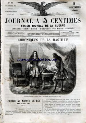JOURNAL A 5 CENTIMES no:43 21/10/1859