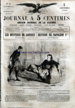 JOURNAL A 5 CENTIMES no:52 23/11/1859