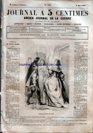 JOURNAL A 5 CENTIMES no:100 09/05/1860