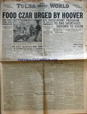 TULSA DAILY WORLD no:281 21/06/1945