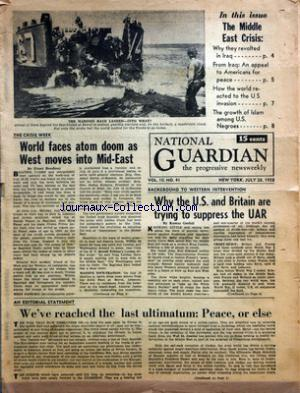 NATIONAL GUARDIAN no:41 28/07/1958