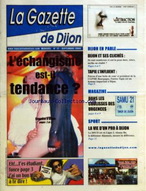 GAZETTE DE DIJON (LA) no:17 01/09/2004