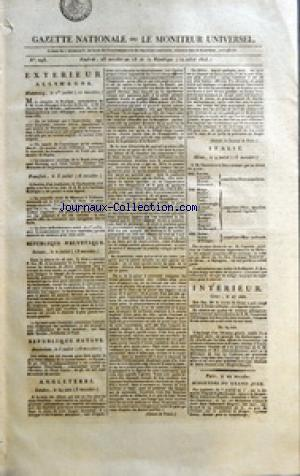 GAZETTE NATIONALE OU LE MONITEUR UNIVERSEL no:293 12/07/1805