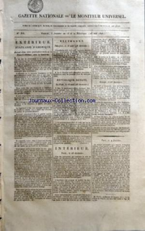 GAZETTE NATIONALE OU LE MONITEUR UNIVERSEL no:335 23/08/1805