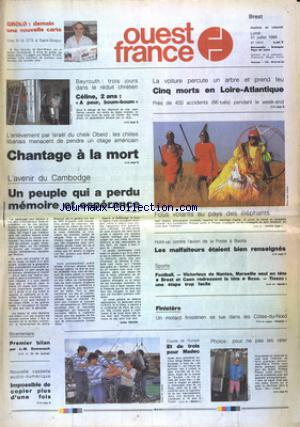 OUEST FRANCE BREST no:13610 31/07/1989