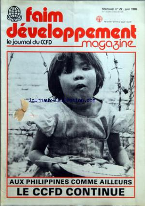 FAIM DEVELOPPEMENT MAGAZINE no:29 01/06/1986