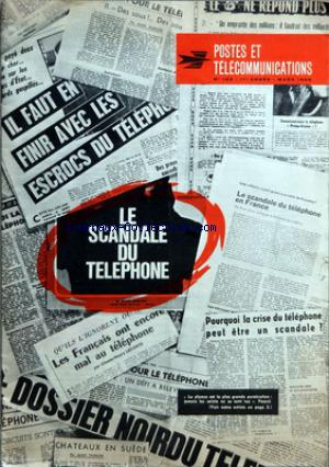 POSTES ET TELECOMMUNICATIONS no:123 01/03/1966