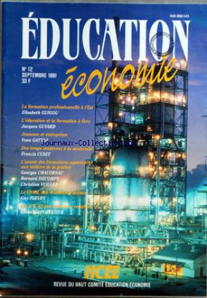 EDUCATION ECONOMIE no:12 01/09/1991