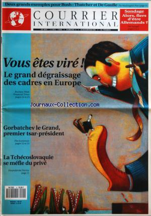 COURRIER INTERNATIONAL no:4 29/11/1990