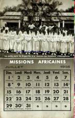 MISSIONS AFRICAINES no: 01/07/1956