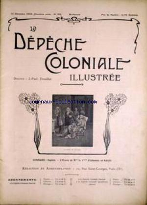 DEPECHE COLONIALE ILLUSTREE (LA) no:24 31/12/1902
