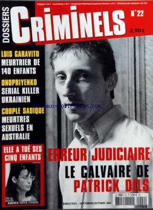 DOSSIERS CRIMINELS no:22 01/09/2002