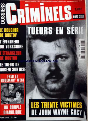 DOSSIERS CRIMINELS no:28H 01/01/2003