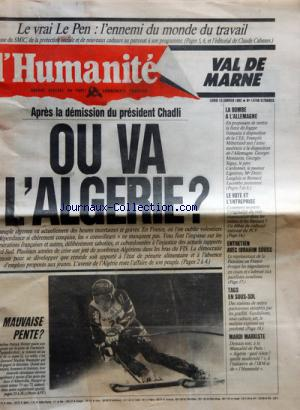 HUMANITE VAL DE MARNE (L') no:14746 13/01/1992