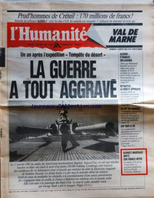 HUMANITE VAL DE MARNE (L') no:14750 17/01/1992