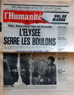 HUMANITE VAL DE MARNE (L') no:14742 08/01/1992