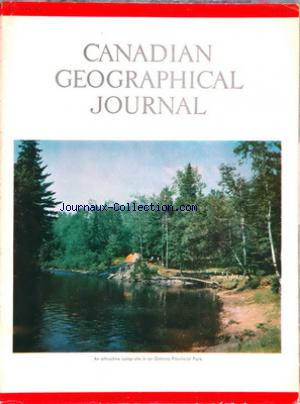 CANADIAN GEOGRAPHICAL JOURNAL no:1 01/07/1959