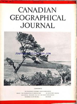 CANADIAN GEOGRAPHICAL JOURNAL no:2 01/08/1956