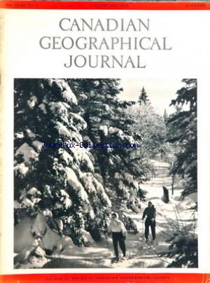 CANADIAN GEOGRAPHICAL JOURNAL no:2 01/02/1959