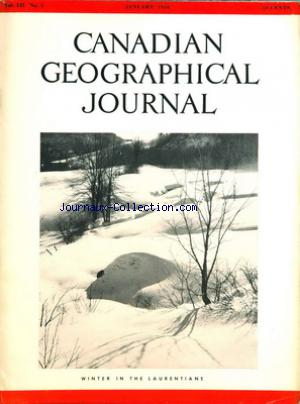 CANADIAN GEOGRAPHICAL JOURNAL no:1 01/01/1956