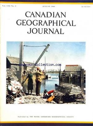 CANADIAN GEOGRAPHICAL JOURNAL no:2 01/08/1960