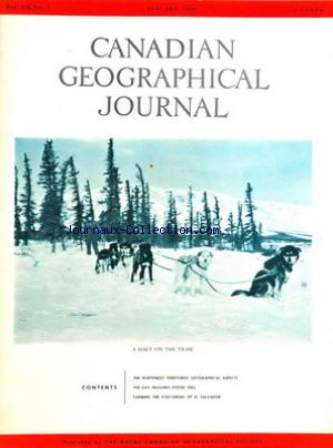 CANADIAN GEOGRAPHICAL JOURNAL no:1 01/01/1960