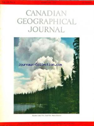 CANADIAN GEOGRAPHICAL JOURNAL no:2 01/02/1960
