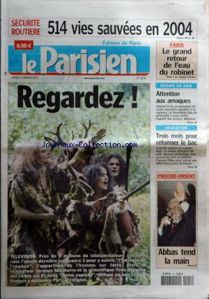 PARISIEN EDITION DE PARIS(LE) no:18767 11/01/2005