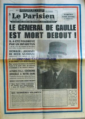 PARISIEN LIBERE GRAND FORMAT (LE) no: 11/11/1970