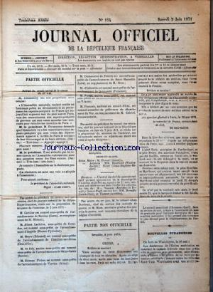 JOURNAL OFFICIEL DE LA REPUBLIQUE FRANÇAISE no:154 03/06/1871
