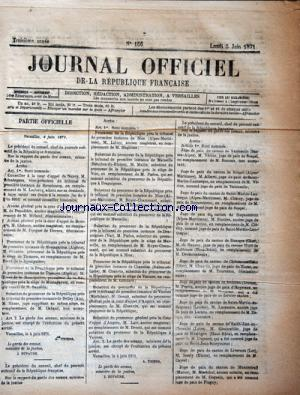 JOURNAL OFFICIEL DE LA REPUBLIQUE FRANÇAISE no:156 05/06/1871