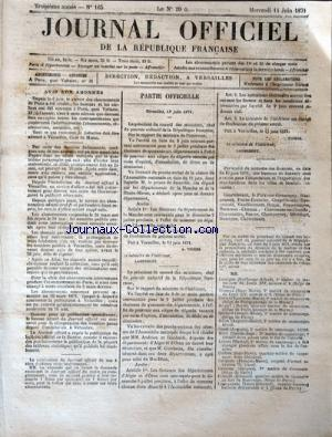 JOURNAL OFFICIEL DE LA REPUBLIQUE FRANÇAISE no:165 14/06/1871