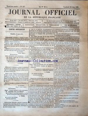 JOURNAL OFFICIEL DE LA REPUBLIQUE FRANÇAISE no:167 16/06/1871