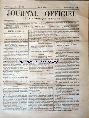 JOURNAL OFFICIEL DE LA REPUBLIQUE FRANÇAISE no:175 24/06/1871