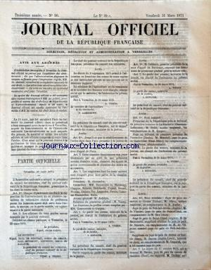 JOURNAL OFFICIEL DE LA REPUBLIQUE FRANÇAISE no:90 31/03/1871