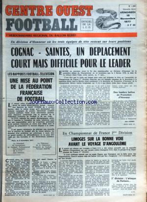 CENTRE OUEST FOOTBALL no:1369 18/11/1977