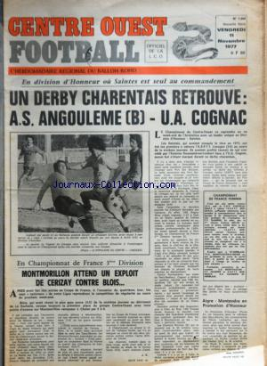 CENTRE OUEST FOOTBALL no:1368 11/11/1977