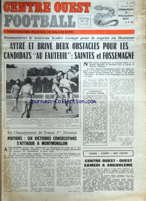 CENTRE OUEST FOOTBALL no:1371 02/12/1977
