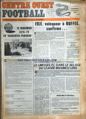 CENTRE OUEST FOOTBALL no:1412 13/10/1978