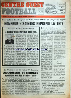 CENTRE OUEST FOOTBALL no:1372 09/12/1977