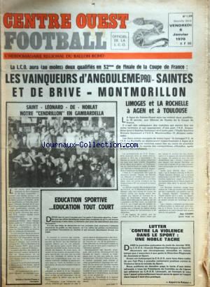 CENTRE OUEST FOOTBALL no:1376 06/01/1978